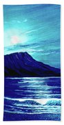 Diamond Head Moon #123 Beach Towel