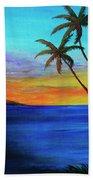Diamond Head Sunrise #327 Beach Towel