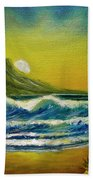 Diamond Head Sunrise #381 Beach Towel
