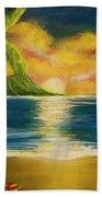 Diamond Head Sunrise #405 Beach Towel