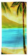 Diamond Head Waikiki Beach #127 Beach Towel