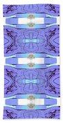 Diamonds Lilac Beach Towel