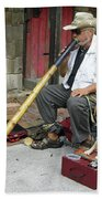 Didgeridoo Performer Beach Towel