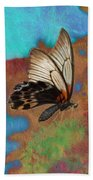 Digital Art Butterfly Beach Towel