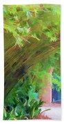 Digital Bamboo Rip Van Winkle Gardens  Beach Towel