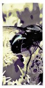 Digital Bottle Fly Beach Towel