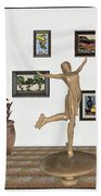 digital exhibition _ A sculpture of a dancing girl 11 Beach Towel