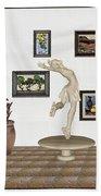 digital exhibition _ A sculpture of a dancing girl 8 Beach Towel