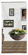 digital exhibition _ Flower basket 22 Beach Towel