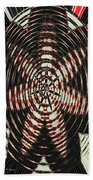 Digital Fan Abstract Beach Towel