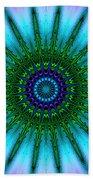 Digital Kaleidoscope Mandala 51 Beach Sheet