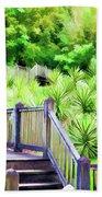 Digital Paint Landscape Jefferson Island  Beach Towel