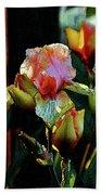 Digital Painting Vibrant Iris 6764 Dp_2 Beach Sheet
