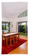 Dining Room With Slanted Ceiling Beach Towel