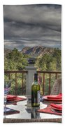 Dining With A View Beach Towel