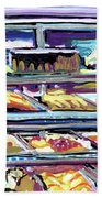 Dinner Pastry Case Beach Towel