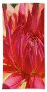 Dinner Plate Dahlia Flower Art Print Orange Baslee Troutman Beach Towel