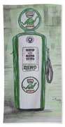 Dino Sinclair Gas Pump Beach Towel