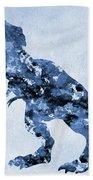 Dinosaur Rex-blue Beach Towel
