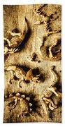 Dinosaurs In A Bone Display Beach Towel