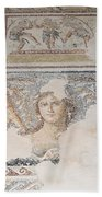 Dionysus Mosaic Mona Lisa Of The Galilee Beach Towel by Ilan Rosen