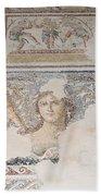 Dionysus Mosaic Mona Lisa Of The Galilee Beach Towel