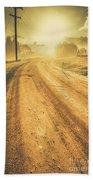 Dirt Road Sunrise Beach Towel