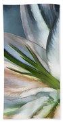 Dirty White Lily 2 Beach Towel
