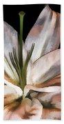 Dirty White Lily 3 Beach Towel