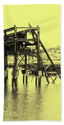 Disappearing Pier Beach Towel