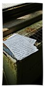 Discarded Notes Beach Towel