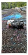Discarded Spray Paint Can Beach Towel