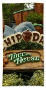 Disneyland Chip And Dale Signage Beach Towel