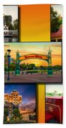 Disneyland Collage 02 Yellow Beach Towel
