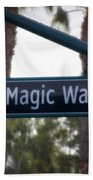 Disneyland Magic Way Street Signage Beach Towel