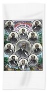 Distinguished Colored Men Beach Sheet