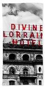 Divine Lorraine Hotel Marquee Beach Towel