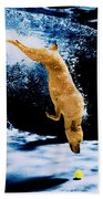Diving Dog Underwater Beach Towel