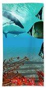 Diving Whales Beach Towel