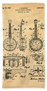 Dixie Banjolele Patent 1954 In Sepia Beach Towel