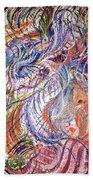 Dizzy Feathers Beach Towel