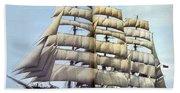 dk tall ships kruzenshtern barque lyr 1926 full D K Spinaker Beach Towel