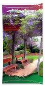 Do-00011 Wisteria Walk Beach Towel