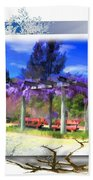 Do-00013 Wisteria Branches Beach Towel