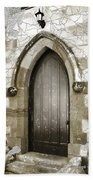 Do-00055 Chapels Door In Morpeth Village Beach Towel