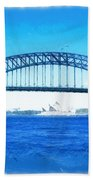 Do-00057 Harbour Bridge Beach Towel