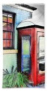 Do-00091 Telephone Booth In Morpeth Beach Towel