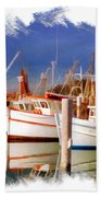 Do-00096 Boats In Nelson Bay Early 90s Beach Towel