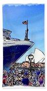 Do-00100 A Ship And Opera House Beach Towel