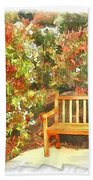 Do-00122 Inviting Bench Beach Towel